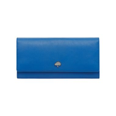 Tree Continental Wallet in Bluebell Blue Silky Classic Calf   What s New    Mulberry c15fff2ae6