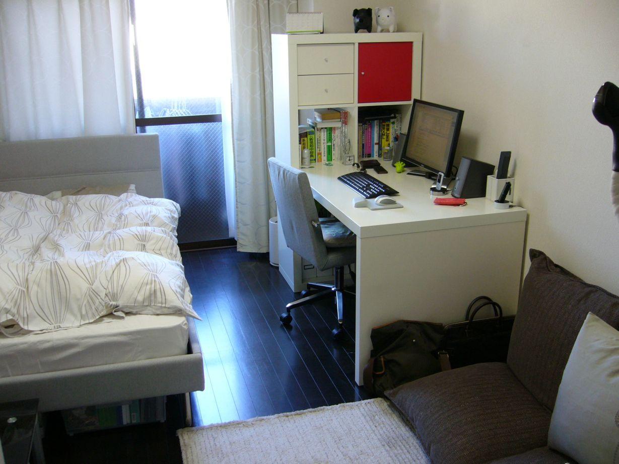 きちんと整頓されている6畳部屋 部屋 家 インテリアのログ インテリア 一人暮らし部屋レイアウト 家