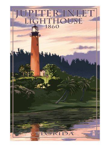 Jupiter Inlet Lighthouse - Jupiter, Florida Art Print