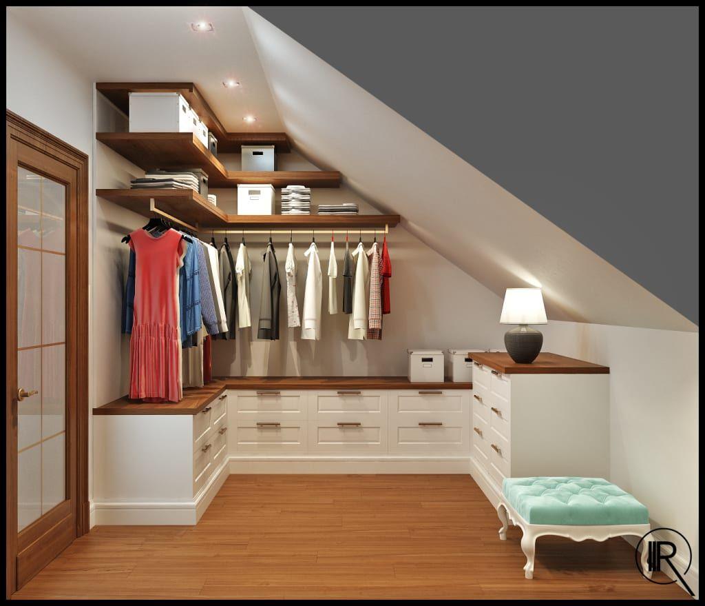 Kleine Ankleidezimmer Perfekt Einrichten (von Janin Istenits) Dachgeschoss  Schlafzimmer, Ankleide Zimmer, Schlafzimmer
