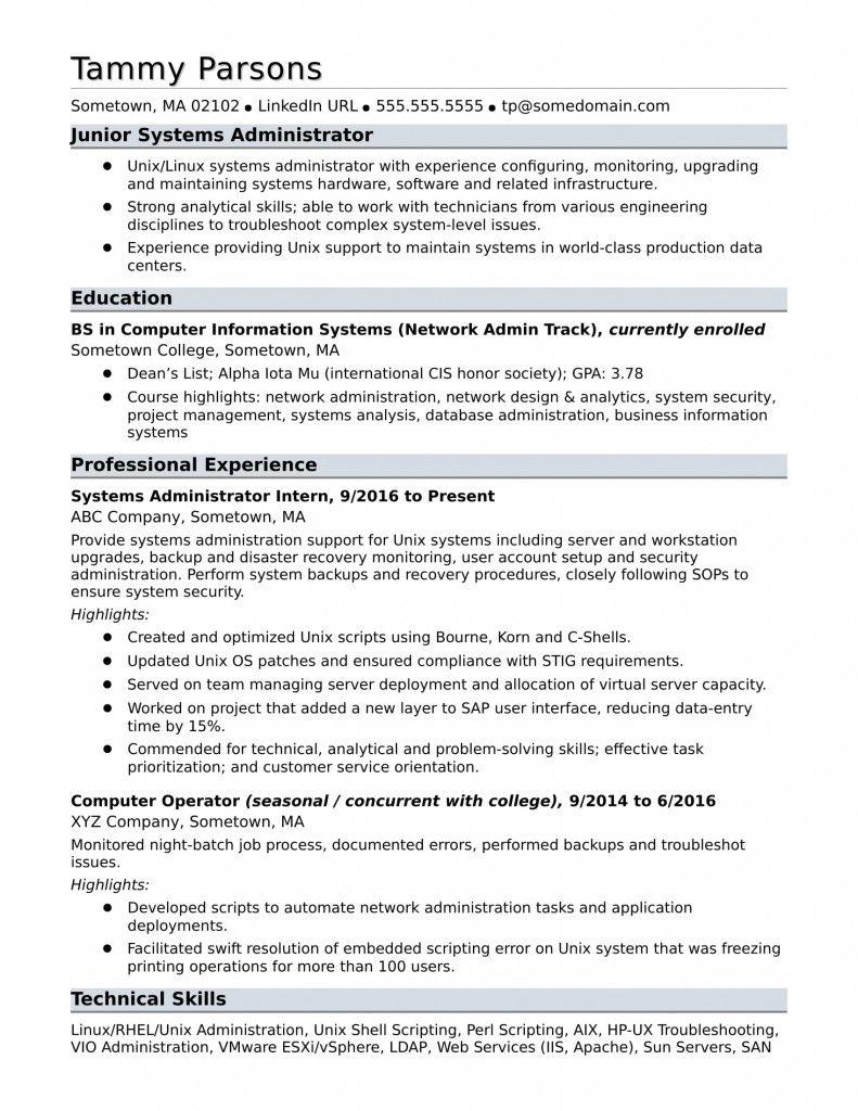Network Administrator Cv Sample 2021 In 2021 Resume Examples Resume Resume Templates