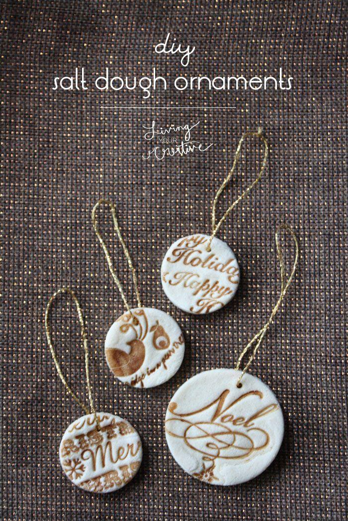 25 Beautiful DIY Christmas Ornaments | Salt dough ...