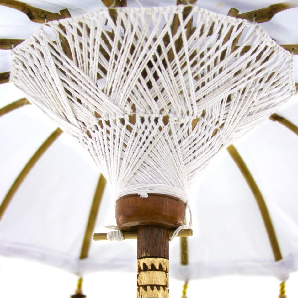 34 White Tabletop Bali Umbrella [403089] : Wholesale Wedding ...