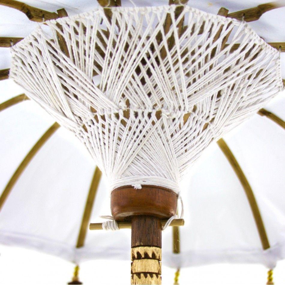 34 White Tabletop Bali Umbrella [403089] : Wholesale Wedding ...