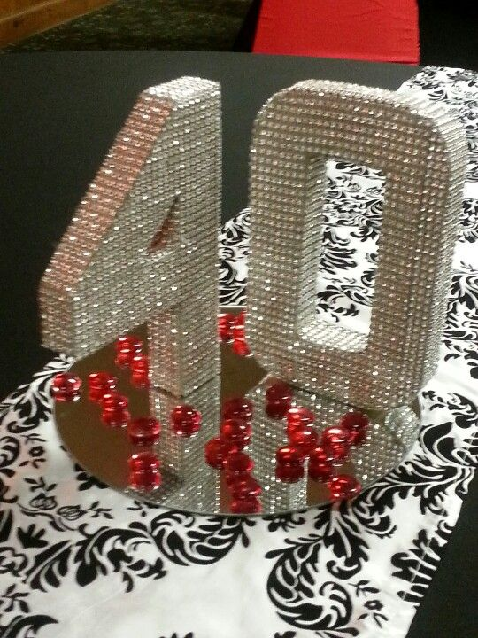 40th Bling Centerpiece Birthday Centerpieces50th