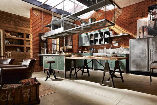 aarredamento industriale arredare casa : Cucine Industriali su Pinterest Cucine Nere, Cucine Moderne e Cucin ...