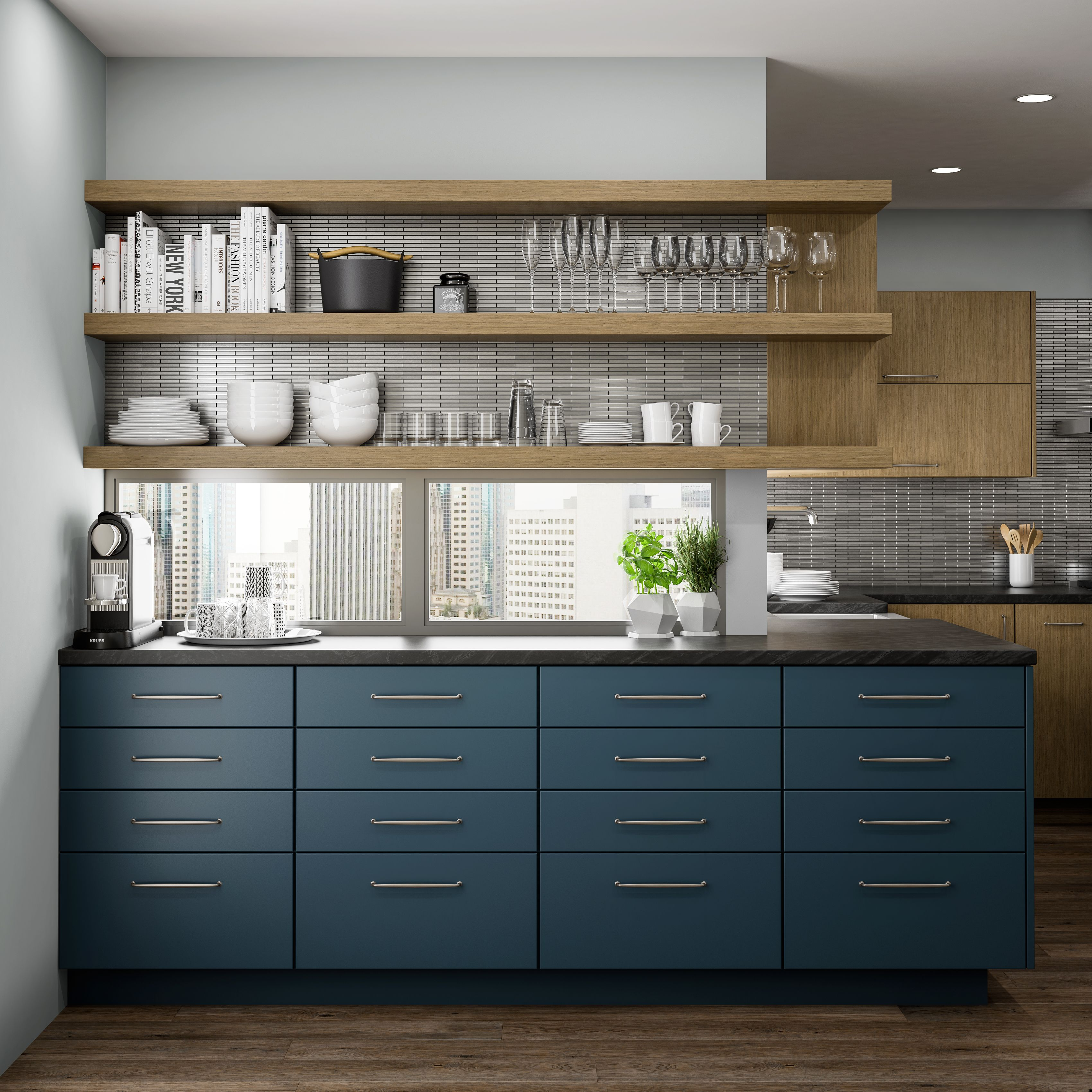 "Curated Color Collection from Dura Supreme Cabinetry shown in ""Gale"