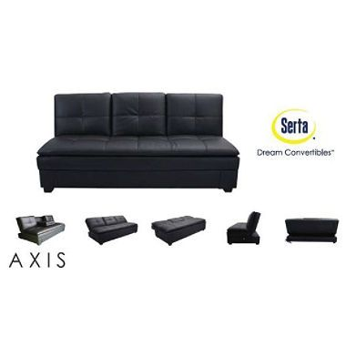 Serta Axis Convertible Storage Sofa With Usb Ports Dorm