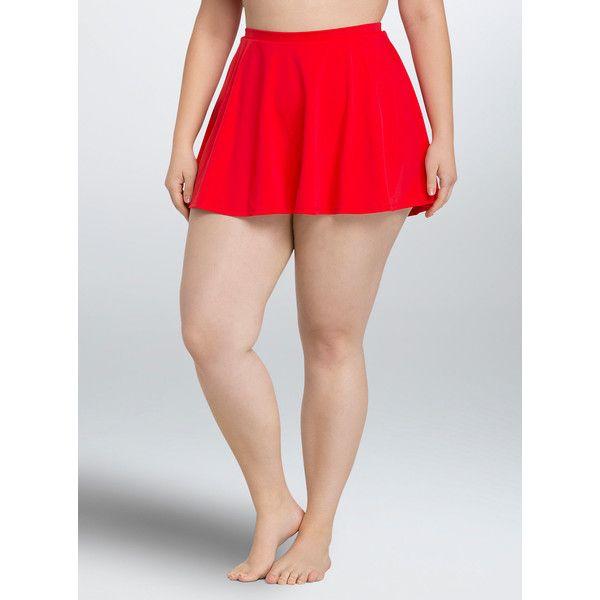 torrid skater swim skirt ($45) ❤ liked on polyvore featuring
