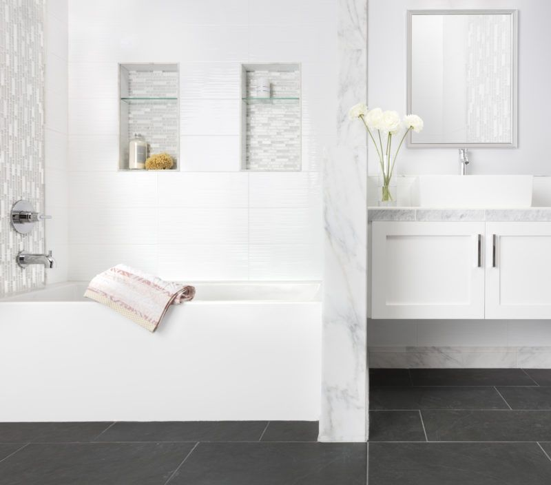 Designing With Black And White Tile The Tile Shop Blog Black Bathroom Black And White Tiles The Tile Shop