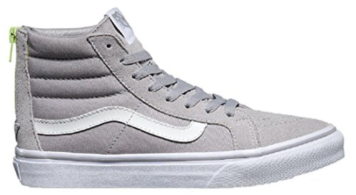 5f5320a588728 Vans Sk8-Hi Slim Zip (7.0 D(M) US Mens/ 8.5 B(M) US Womens, (Pop) Silver  Sconce) - Brought to you by Avarsha.com