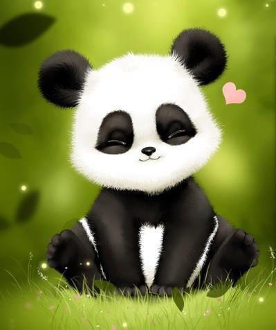 Panda love | Cute panda wallpaper, Panda art, Panda wallpapers