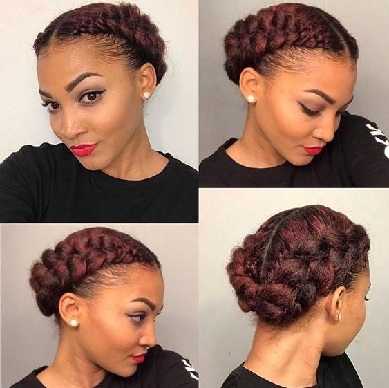 African American Natural Hairstyles For Medium Length Hair Cocoa