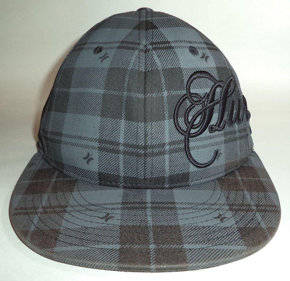 Hurley hat cap fitted 6 78 7 14 flexfit blackgrey