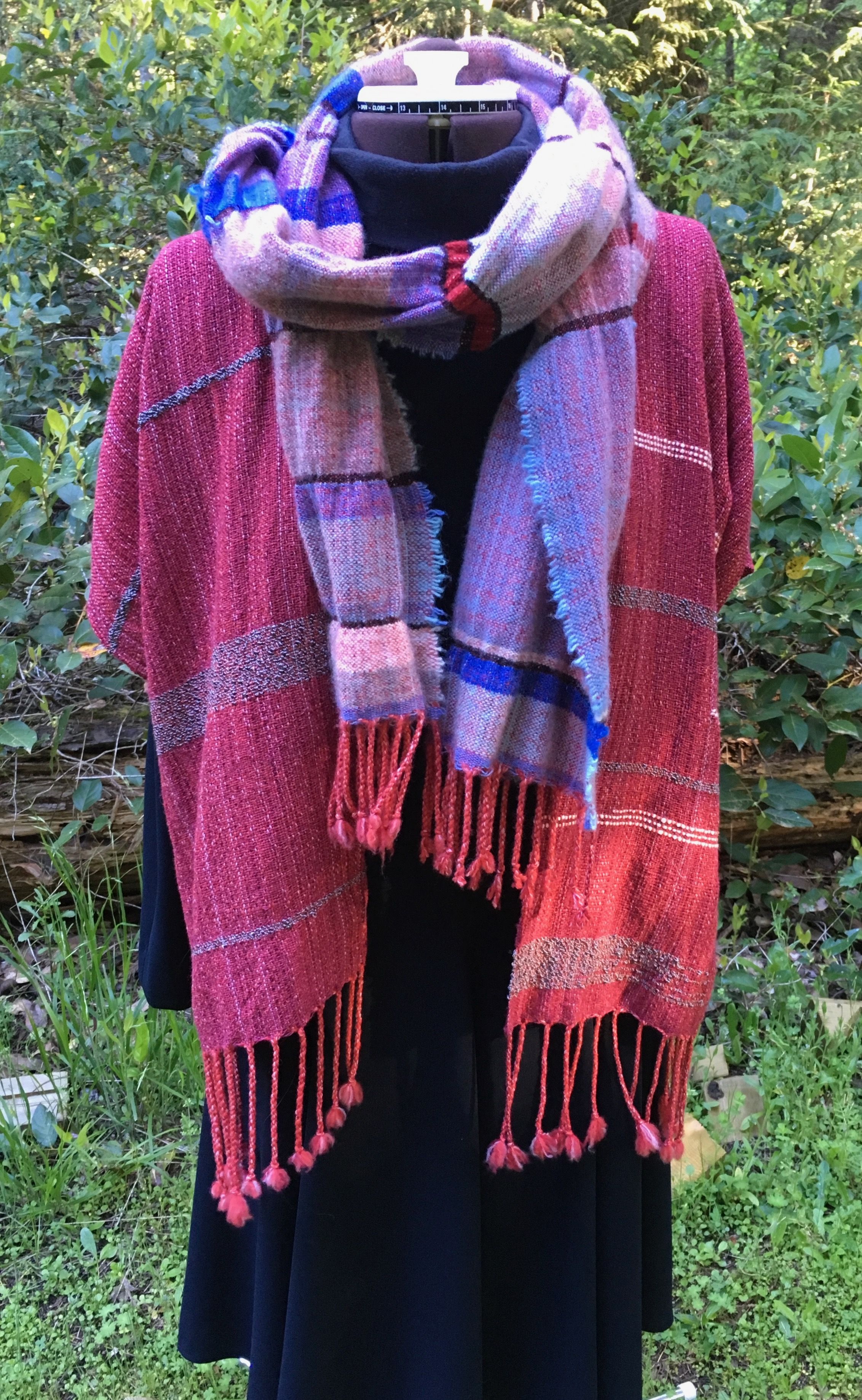 Cashmere Warp Two Ways Top Woven With Silk Scarf Woven
