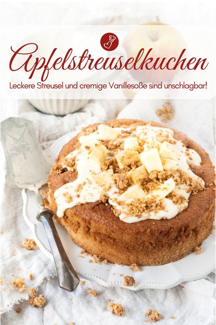 Apfelstreuselkuchen mit Vanillecreme - Kuchen verführerisch!