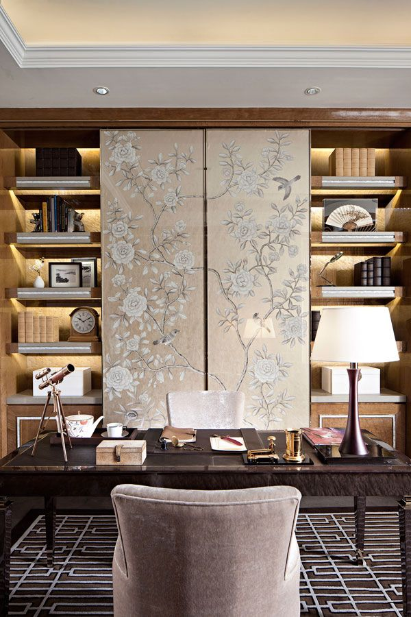 Pin By Kathy Kuo On Shelf Decor Home Office Design Interior