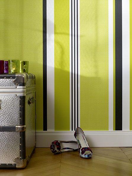 wandgestaltung in streifen: wände im streifenkleid | gestreifte, Hause deko