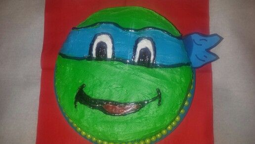 The easy diy ninja turtle cake I made Ninja turtle pizzeria