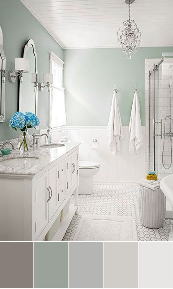 Bathroom Floor And Wall Color Schemes