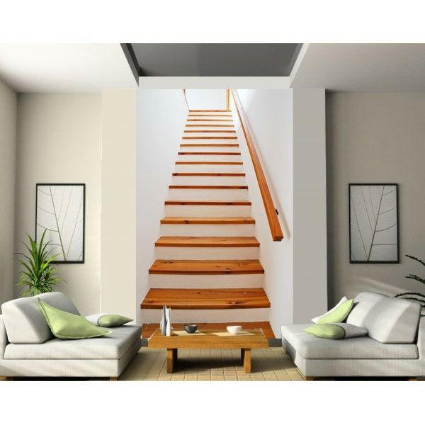 Le poster mural trompe l 39 oeil photos design et peinture - Escalier fixe au mur ...