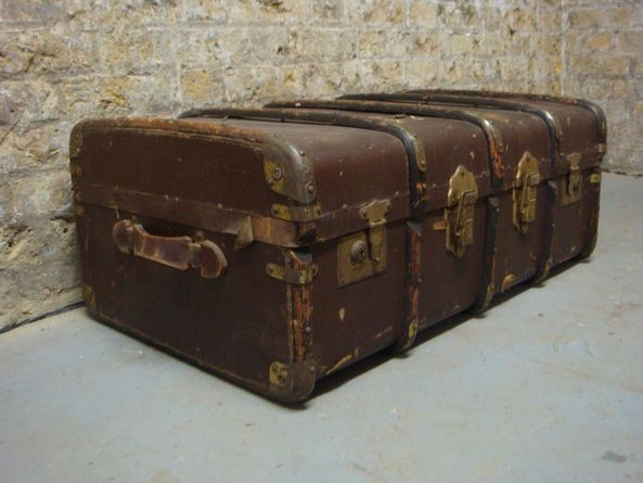 Old luggage chests