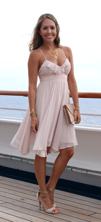 Cruise diary what i wore part 4 feminine dress for Wedding dresses for cruise ship