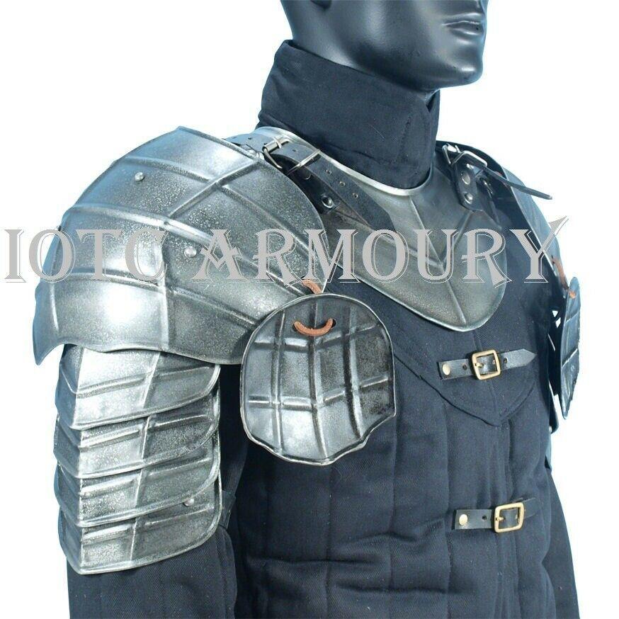 Iotc Armoury Dark Drake Pauldrons Iotcarmoury Pauldron Shoulder Armor Larp Armor