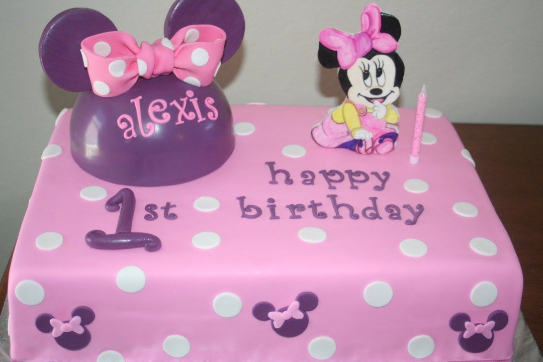 Minnie Mouse Birthday Cakes Adriana 1st birthday Pinterest