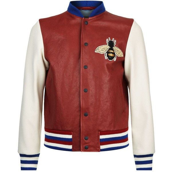 2c1f852fe Gucci Gucci Bee Bomber Jacket ($3,110) ❤ liked on Polyvore ...