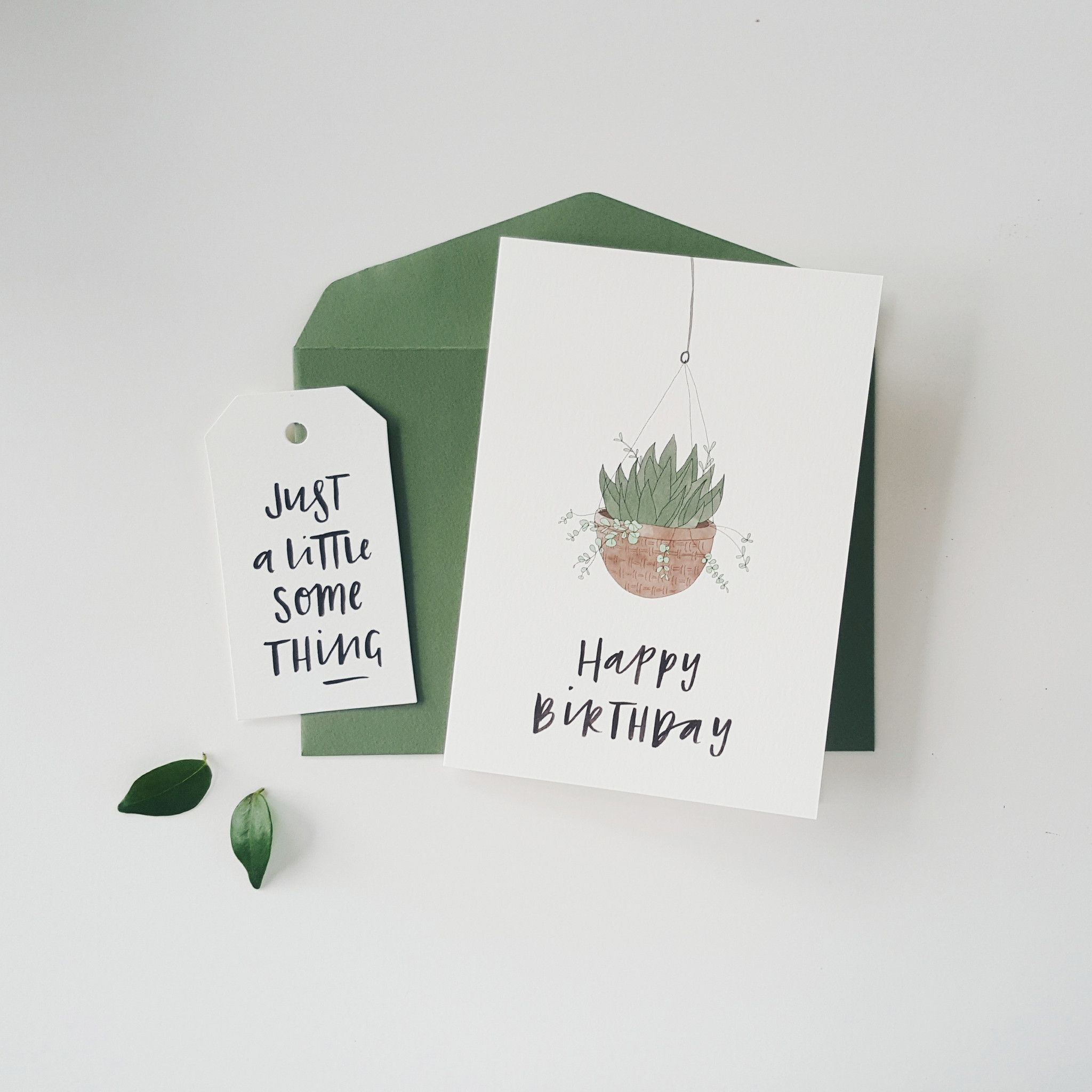 Hanging Plant Greeting Card.  Australian made stationery by In the Daylight.