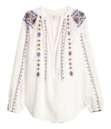 H M Cotton Blouse Bohemian 34 95 Bohemian Style Style Fashion