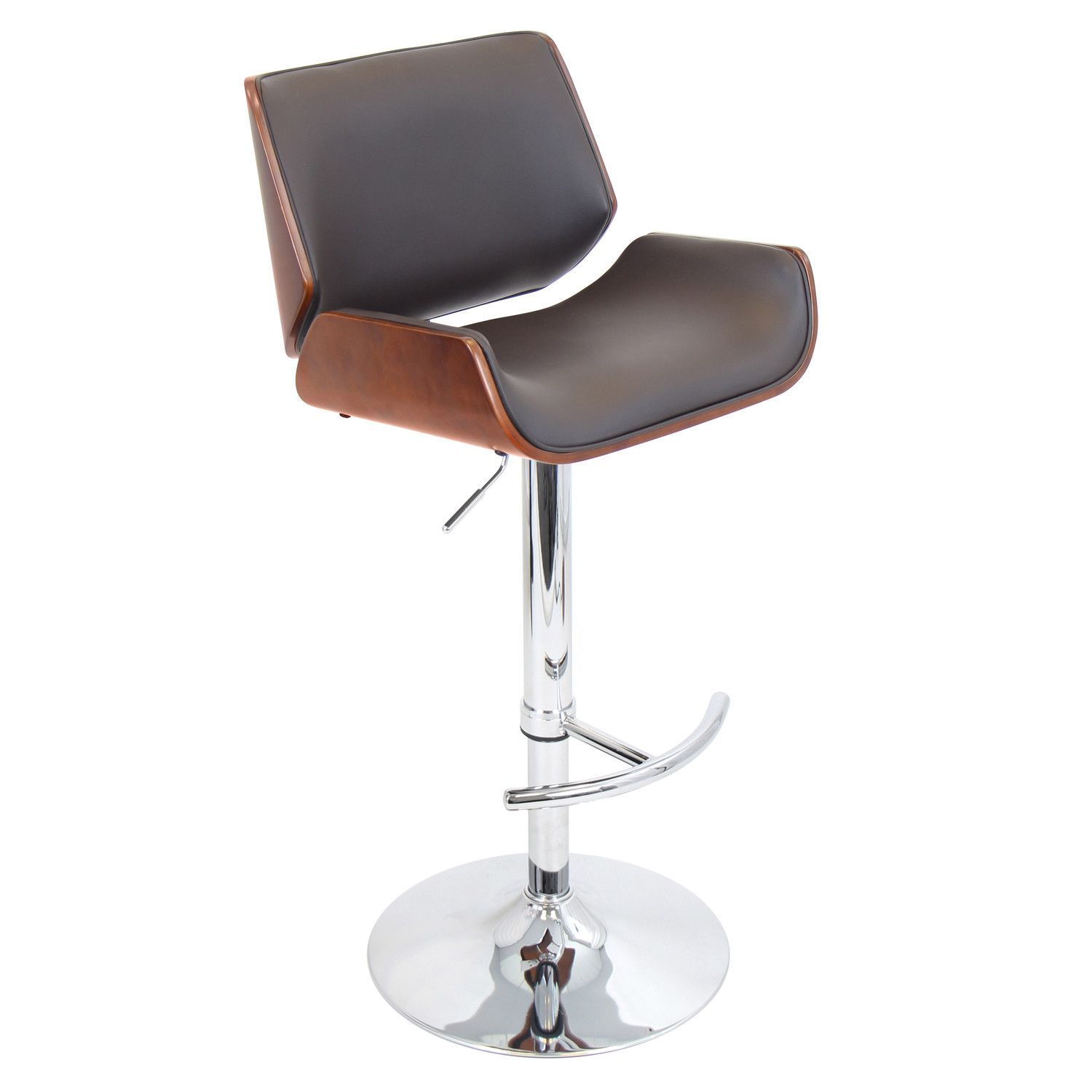 Bar chairs contemporary - Lumisource Santi Adjustable Height Swivel Bar Stool