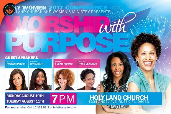 Women Conference Flyer Template by SeraphimChris on - conference flyer template