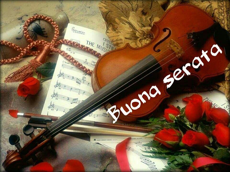Buona Serata Con Immagini Musica Per Violino Spartiti