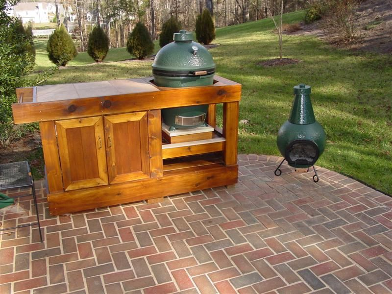Primo Grill Table Plan Using Drawer Under Green Egg
