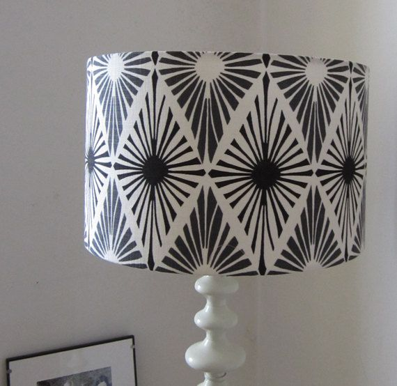 Items Similar To Modern Monochrome Print Ceiling Pendant Light Shade Or Large Lampshade 35cm Diameter Suits Uk And European Light Fittings On Etsy Pendant Light Shades Monochrome Prints Ceiling Pendant Lights