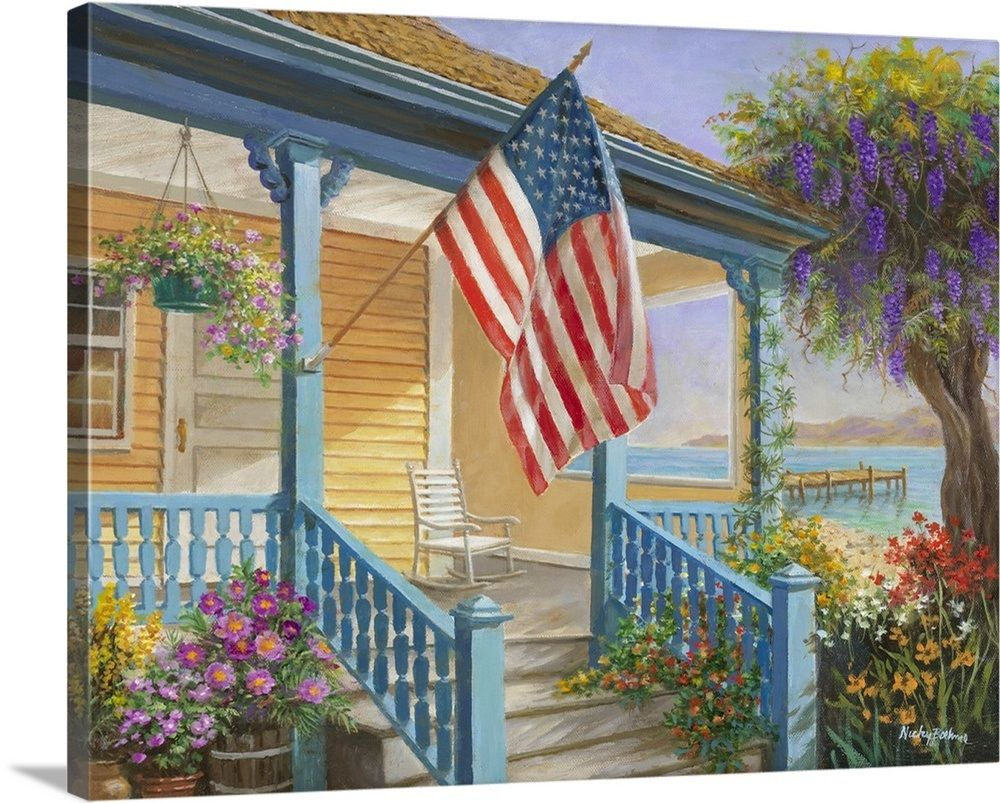 My Home Sweet Home Country Art House Painting Home Wall Art
