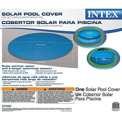 Intex Above Ground Pool Cover Safety Solar For 12ft Diameter Easy Set And Frame Ground Pools