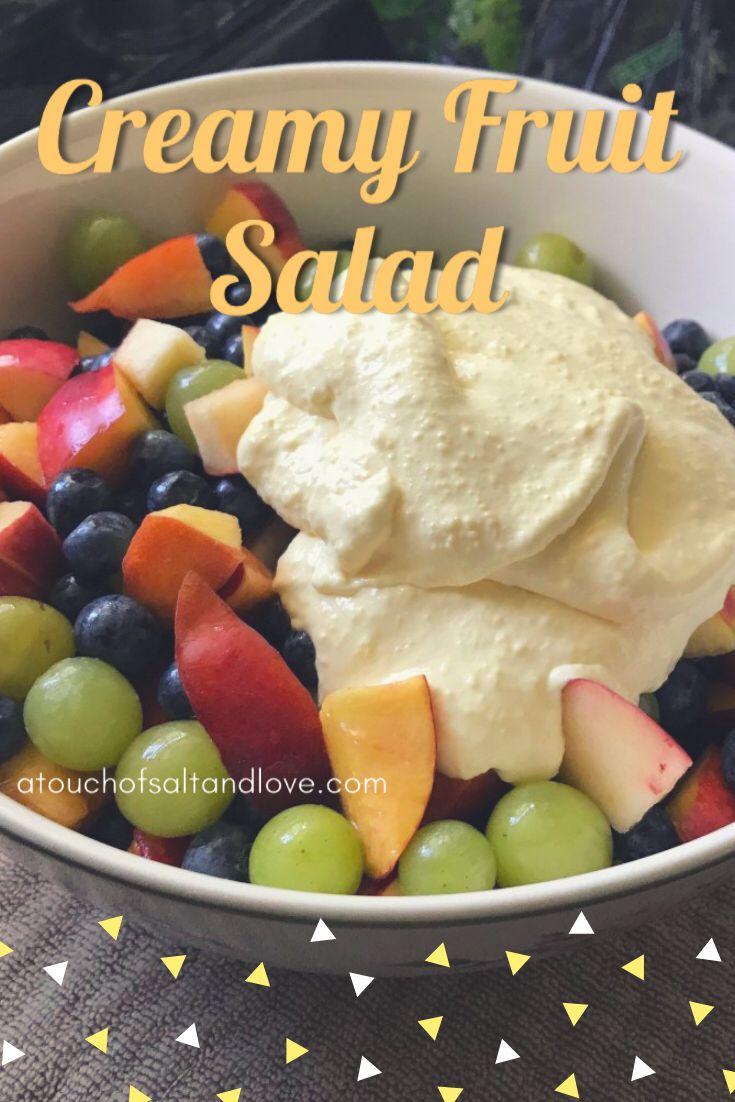 Refreshing Creamy Fruit Salad
