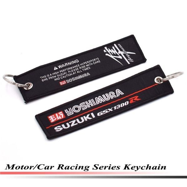 New GSXR JDM Style Key Ring Embroidery Keychain Luggage Tag for Suzuki Motorcycles and Cars K New GSXR JDM Style Key Ring Embroidery Keychain Luggage Tag for Suzuki Motor...
