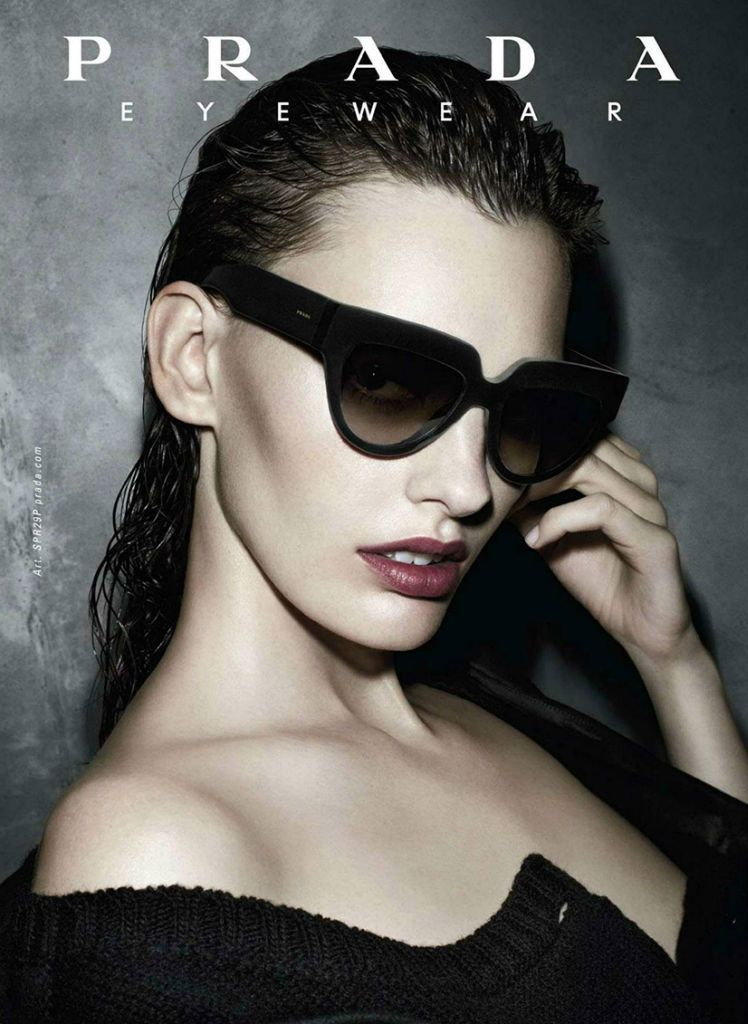 3254ca53a450 Amanda Murphy for Prada Eyewear Fall Winter 2013 14 Campaign by Steven  Meisel