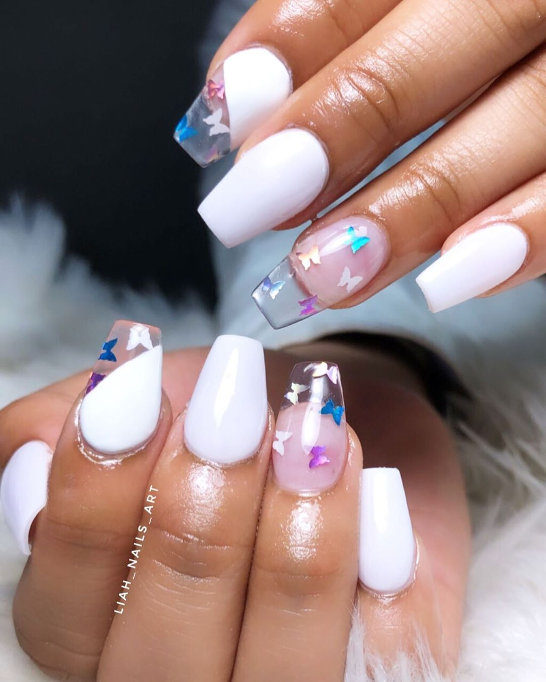 Try These 90 S Inspired Nail Art Ideas Alberte Nic In 2020 Clear Acrylic Nails Short Acrylic Nails Designs 90s Nails