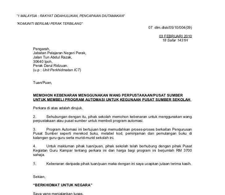 Contoh Surat Rasmi Sokongan Ketua Kampung Surat Penuaan