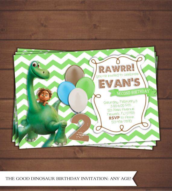 La Invitación De Buen Dinosaurio Por Cindyseventcreations En