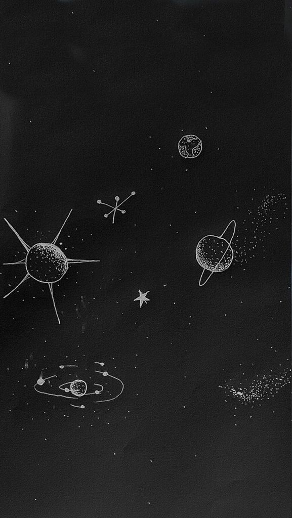 Uuniversee Space Doodles Galaxy Wallpaper Space Iphone Wallpaper Galaxy cool black and white wallpaper