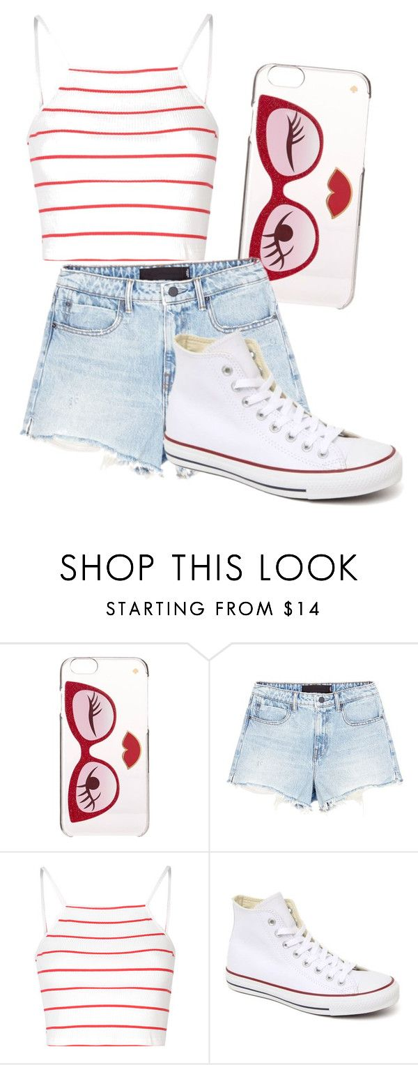 """""""Bend and Snap"""" by madison-taylor-73 ❤ liked on Polyvore featuring Kate Spade, Alexander Wang, Glamorous and Converse"""