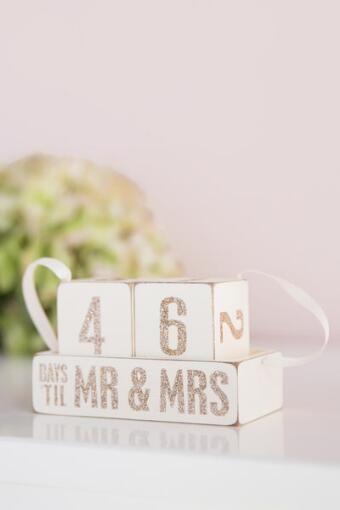 Mr. and Mrs. Countdown Blocks