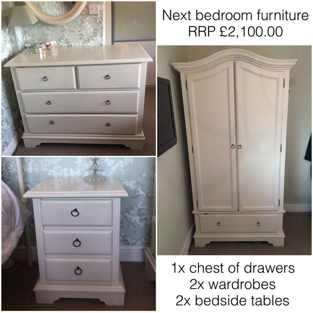 Next Shabby Chic Cream/Ivory Bedroom Furniture Set Rrp 2100.00