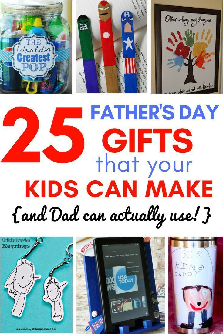 25+ Homemade Father's Day Gifts from Kids {That Dad Can